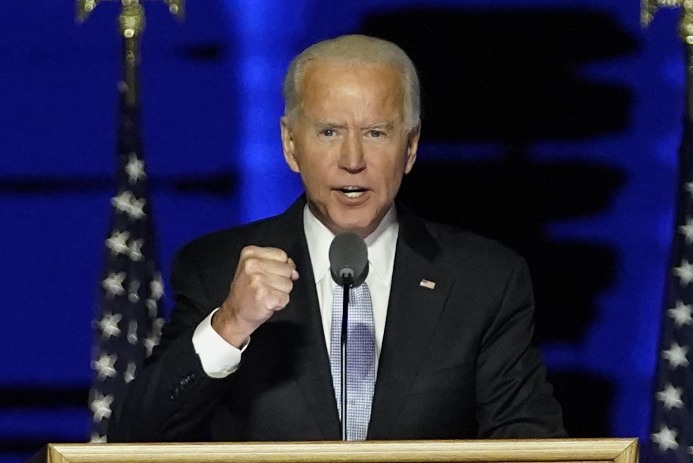 Ông Joe Biden phát biểu tại Wilmington, bang Delaware, Mỹ, ngày 7/11/2020. (Ảnh: AFP/TTXVN)