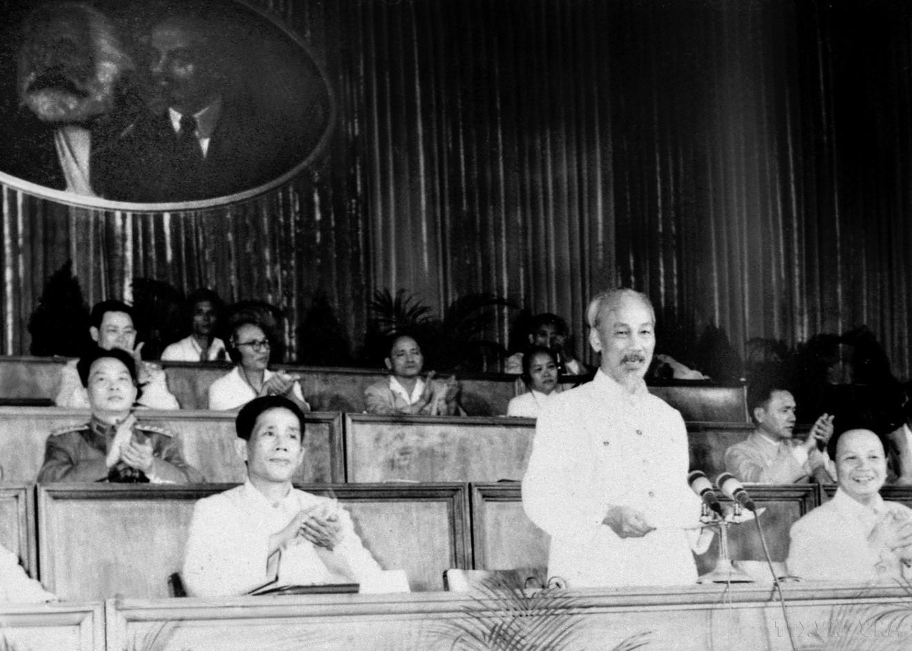 Đại hội đại biểu toàn quốc Đảng Lao động Việt Nam lần thứ III (5-10/9/1960), tại Hà Nội. (Nguồn: TTXVN)