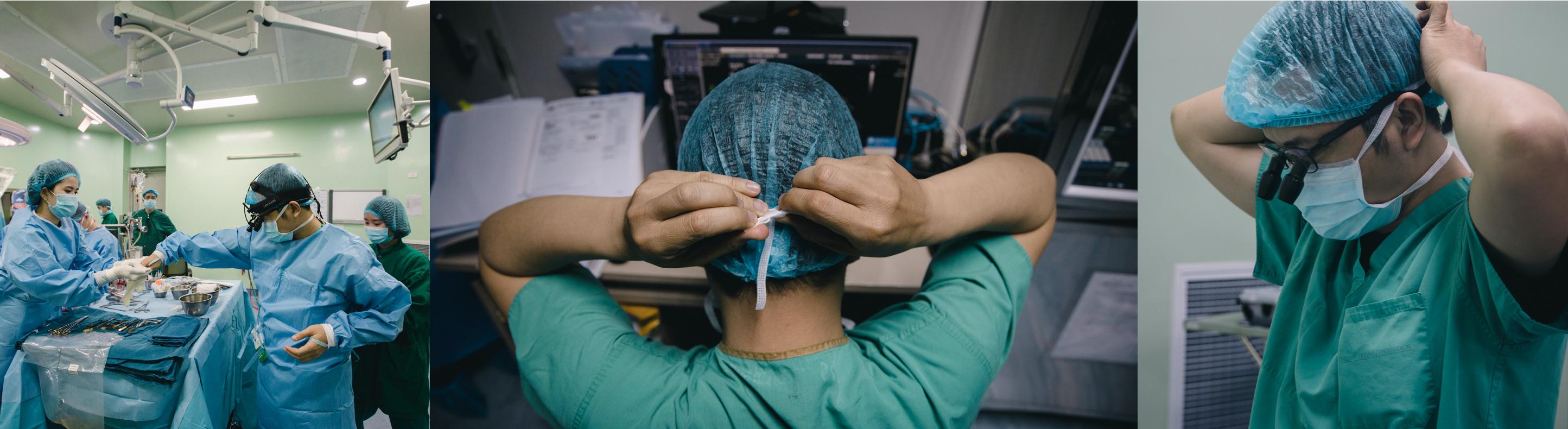 Bác sỹ Trường cùng các đồng nghiệp đã sẵn sàng cho cuộc phẫu thuật. (Ảnh: Minh Sơn/Vietnam+)